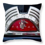 Close-up Of A Mercury Classic Car Of Throw Pillow