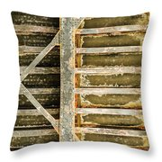 Close-up Of A Weathered Wall, Los Throw Pillow