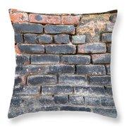 Close-up Of Old Brick Wall Throw Pillow