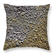 Close Up Of Sulphur Deposits And Gypsum At Hverir In Iceland Throw Pillow
