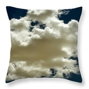 Cloud On Dark Sky. Throw Pillow