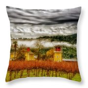 Clouds Over Napa Valley Throw Pillow
