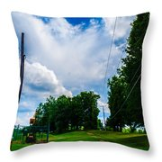 Cloudy Trail Throw Pillow