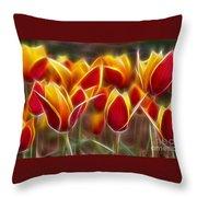Cluisiana Tulips Fractal Throw Pillow