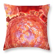 Cluster Of Hiv Virus Throw Pillow