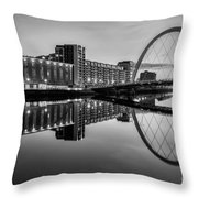 Clyde Arc Squinty Bridge Throw Pillow