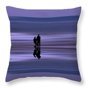 Coastal Abstract Throw Pillow