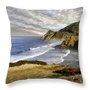Coastal Beauty Impasto Throw Pillow