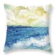 Coastal Clouds Throw Pillow