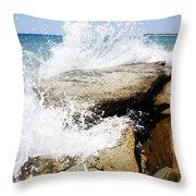 Coastal Collision Throw Pillow