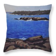 Coastal Waters Of Maine - Art By Bill Tomsa Throw Pillow