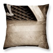 Cobra Grille Emblem Throw Pillow
