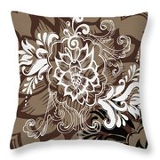 Coffee Flowers 10 Throw Pillow