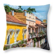 Colonial Balconies Throw Pillow