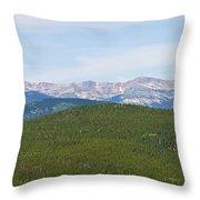 Colorado Continental Divide 5 Part Panorama 1  Throw Pillow