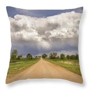 Colorado Country Road Stormin Skies Throw Pillow