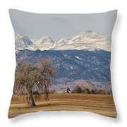 Colorado Front Range Continental Divide Panorama Throw Pillow
