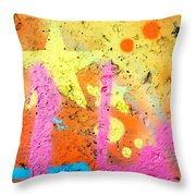 Colored Texture Detail Throw Pillow