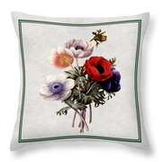 Colorful Anemones Square Throw Pillow