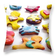Colorful Cookies Throw Pillow by Carlos Caetano