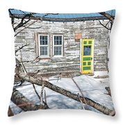 Colorful Doorway Throw Pillow