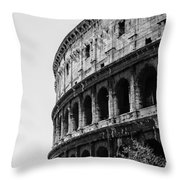 Colosseum - Rome Italy Throw Pillow