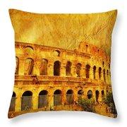 Colosseum Throw Pillow
