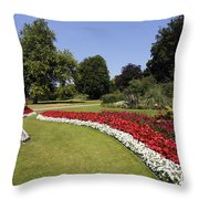 Colourful Flowerbeds In Hyde Park In London England Throw Pillow