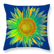 Colourful Sunflower Throw Pillow