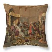 Columbus At Barcelona Throw Pillow