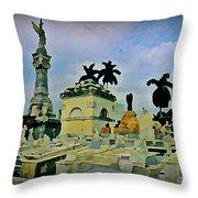Columbus Cemetary Havana Throw Pillow