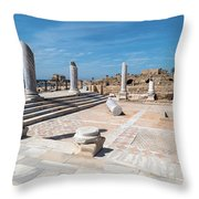 Columns In Archaeological Site Throw Pillow