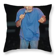 Comedian George Carlin Throw Pillow
