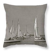 Comet Race In Black And White  Throw Pillow