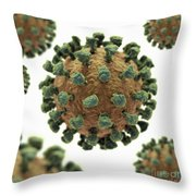 Common Cold Virus Throw Pillow
