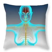 Conceptual Image Of Female Nervous Throw Pillow
