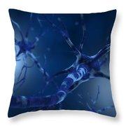 Conceptual Image Of Neuron Throw Pillow