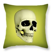 Conceptual View Of Human Skull Throw Pillow