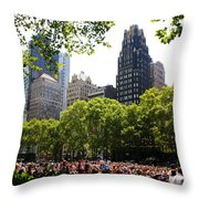 Concert At Bryant Park Throw Pillow by Dora Sofia Caputo Photographic Art and Design
