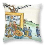 Confucius (c551-479 B Throw Pillow