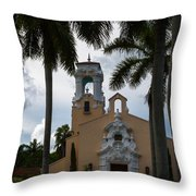 Congregational Church Of Coral Gables Throw Pillow