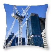 Construction City Throw Pillow