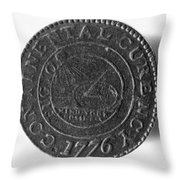 Continental Dollar, 1776 Throw Pillow