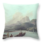 Cook Tahiti, 1773 Throw Pillow