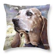 Coonhound - Pumpkin Throw Pillow