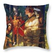Cooper: Deerslayer, 1925 Throw Pillow