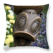 Copper Donald Throw Pillow