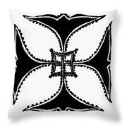 Coptic Cross Throw Pillow