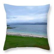 Coral Beach Throw Pillow