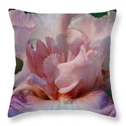 Ruffled Coral Throw Pillow